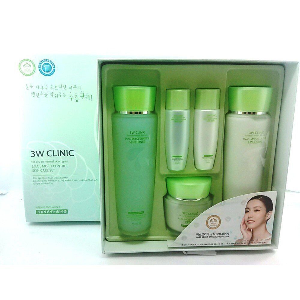 3W CLINIC Набор д/лица УЛИТОЧНЫЙ МУЦИН Snail Moist Control Skin Care 3SET
